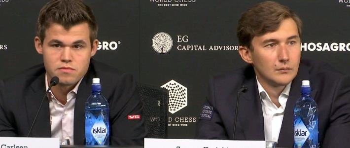 Carlsen y Karjakin entablan la primera partida del match