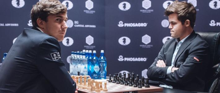 Karjakin presiona pero Carlsen logra el empate y mantiene sus chances