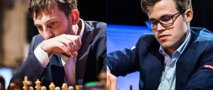 Un hat-trick deja a Grischuk a un paso de Carlsen tras el cierre de la etapa de rápidas del París GCT