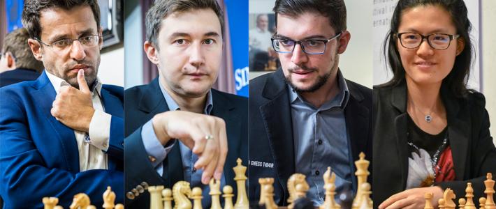 Aronian, Karjakin y Vachier-Lagrave comienzan Sinquefield con el pie derecho. Hou Yifan, campeona en Biel.