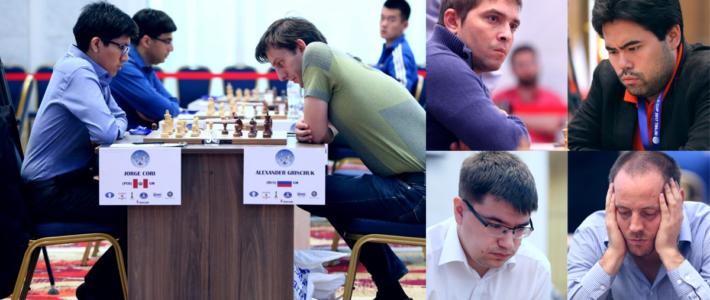 Copa del Mundo R2: Meritorios empates de Cori, Bruzón y Vallejo frente a Grischuk, Nakamura y Tomashevski