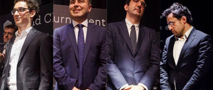 En el duelo de gigantes caídos, Kramnik noquea de nuevo a Aronian; Caruana entabla con Mamedyarov y sigue como único lider