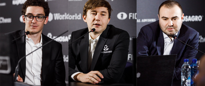 Caruana llega líder a la definición y depende de sí mismo; Karjakin y Mamedyarov, a medio punto, también sueñan con desafiar a Carlsen