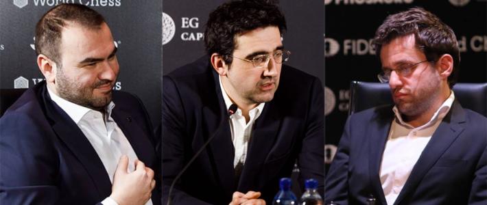 Mamedyarov vence a un Kramink golpeado y alcanza a Caruana en la cima; Aronian no levanta cabeza