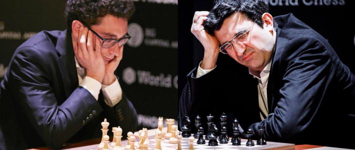 Caruana acaricia la victoria pero divide el punto y deja todo igual en la cima; Kramnik no despierta de su pesadilla