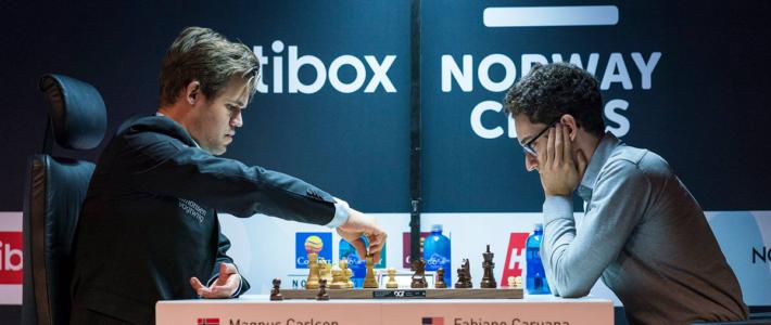 A fuego lento: Carlsen derrota a Caruana y comienza Altibox con el pie derecho