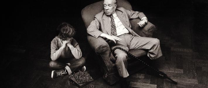 Borges y un niño